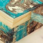 caja con efecto marmoleado
