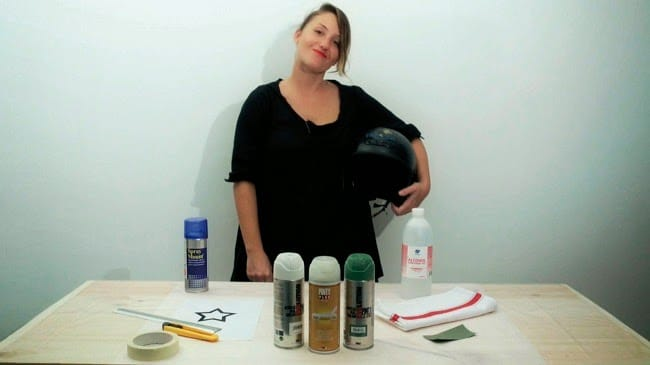 materiales para personalizar tu casco con pintura en spray