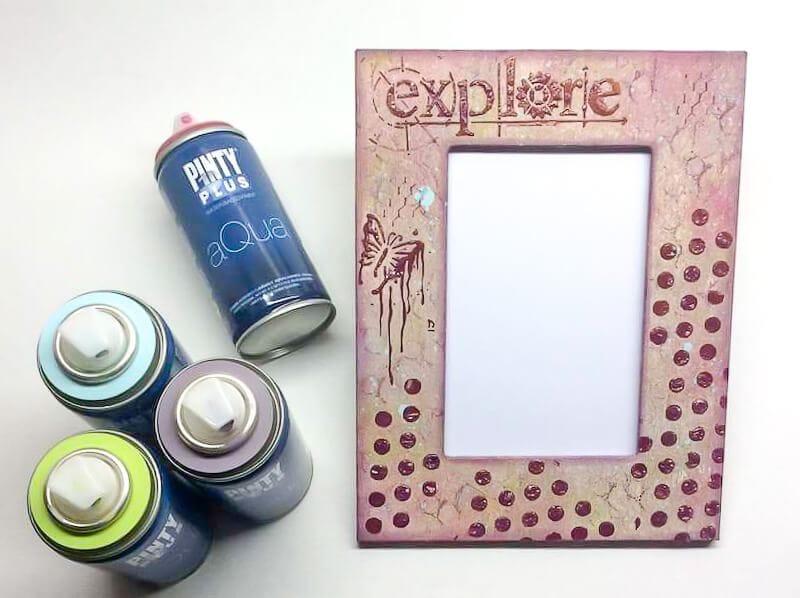 marco de fotos DIY con Pintyplus Aqua