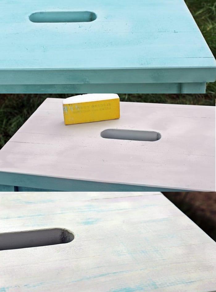 pintar taburete ikea plastico chal paint