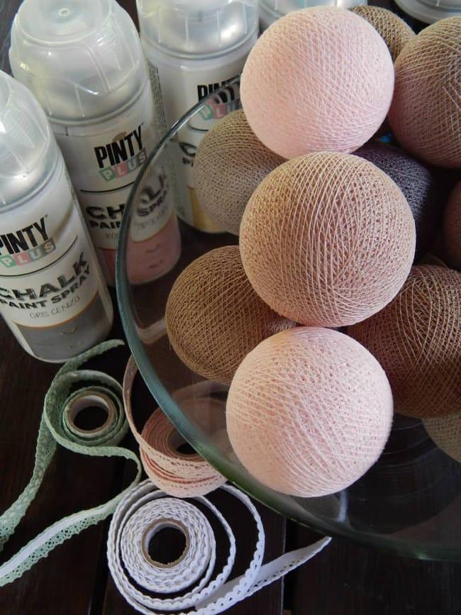 Pintar guirnaldas de luces con spray shakingcolors for Guirnalda de luces bolas