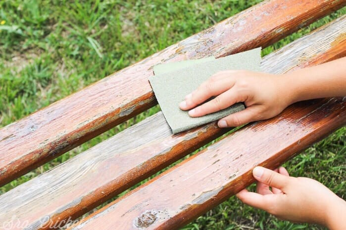 Pintar banco de madera 2