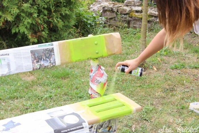 Pintar banco de madera 4