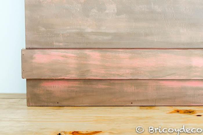 efecto decapado con agua y chalk paint shakingcolors