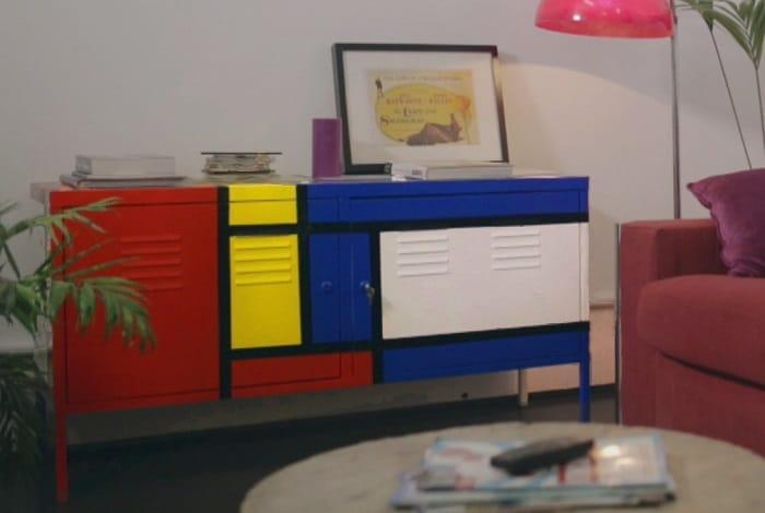Inspiraci n mondrian para pintar un mueble de ikea for Como tunear muebles de ikea
