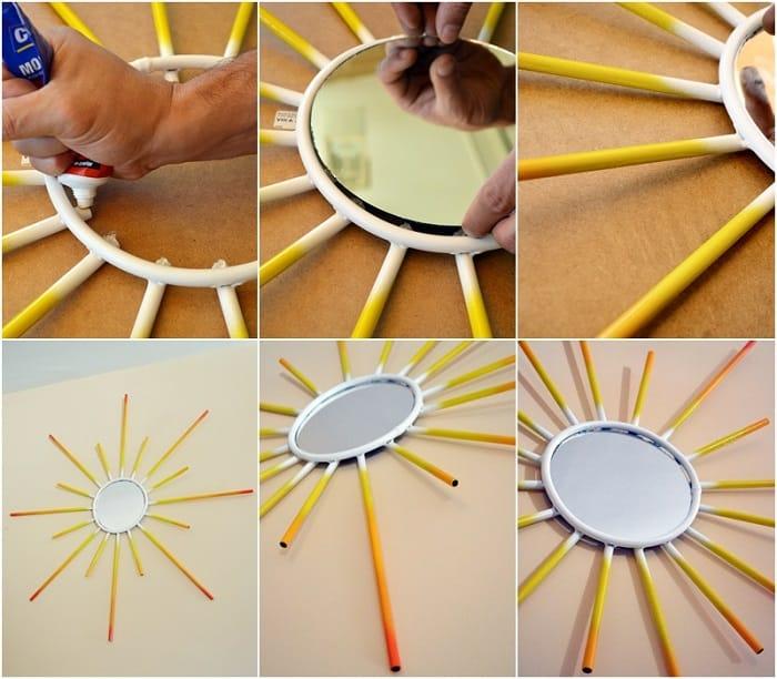 espejo sol con pintura en spray 3