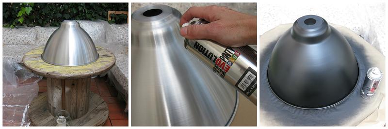 Pintar una l mpara de metal con pintura en spray - Pintura con spray ...
