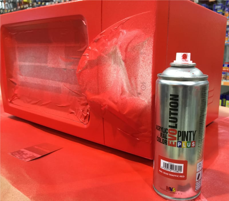 Pintar un microondas con spray shakingcolors - Pintura para microondas ...
