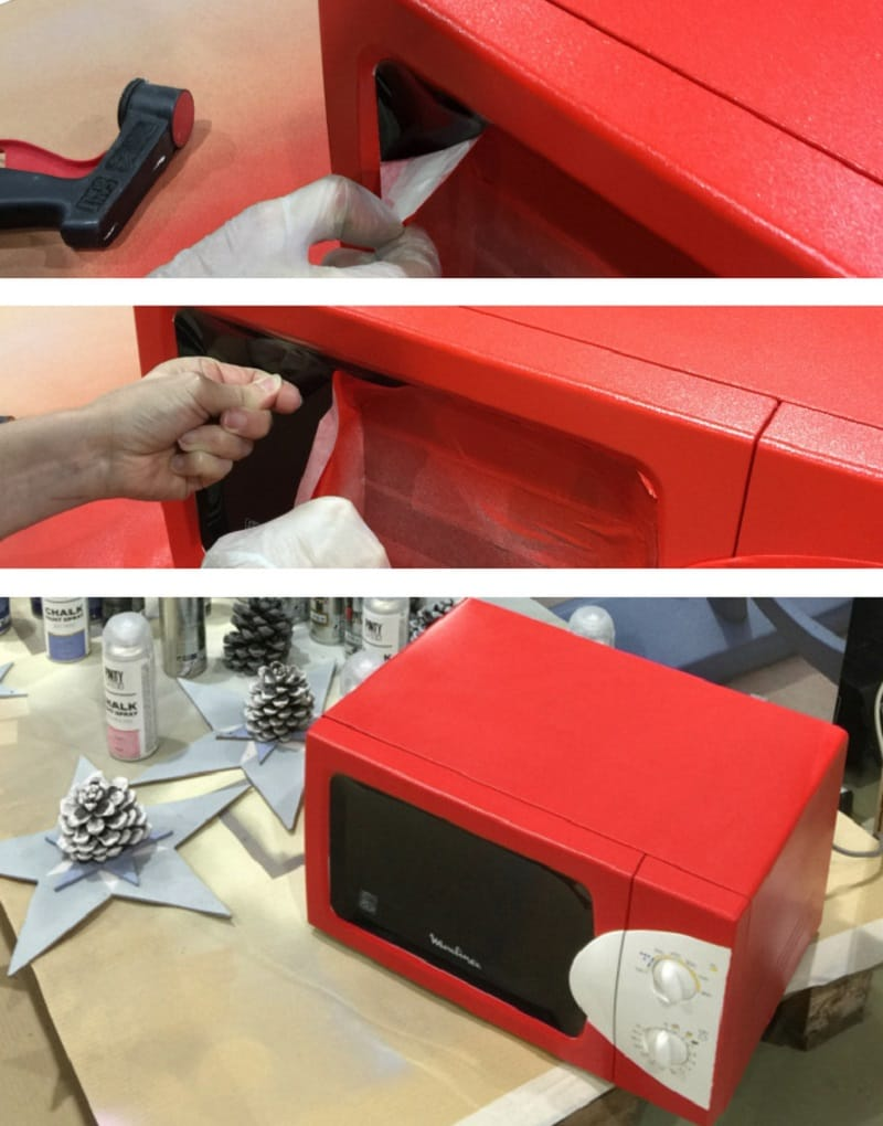 pintar microondas con spray 2