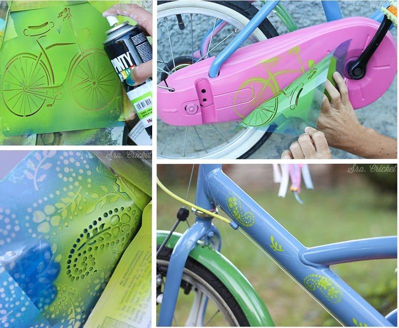 pintar una bici con spray 1