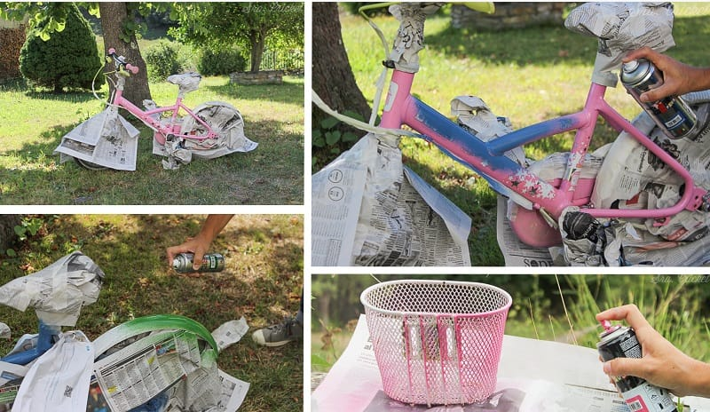 pintar una bici con spray 2