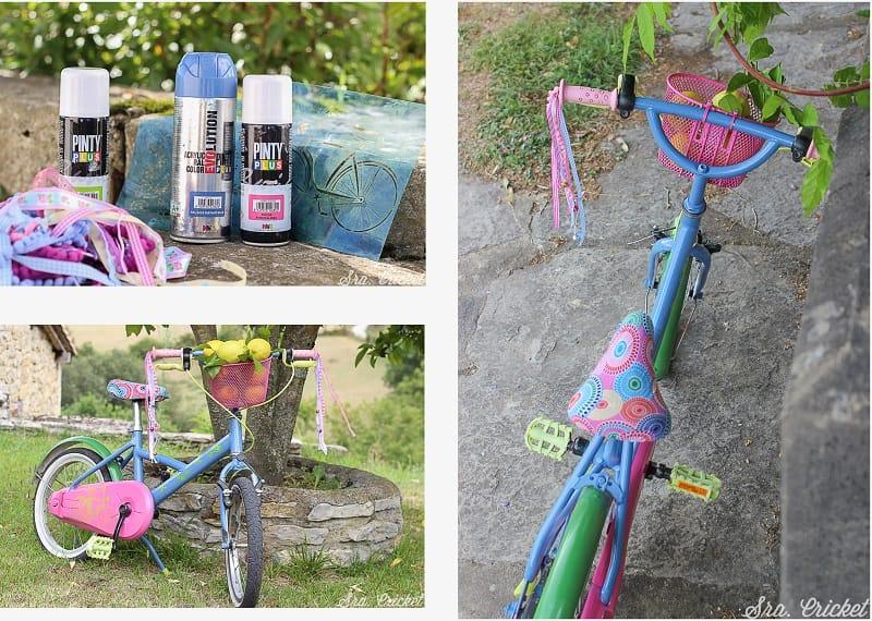 pintar una bici con spray