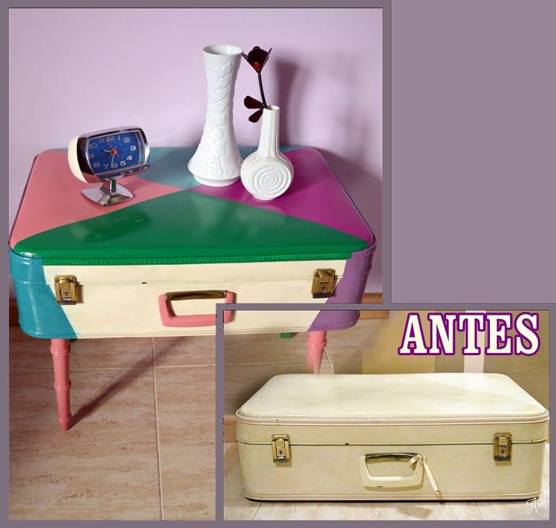 mesa convertida en maleta con pintyplus 2