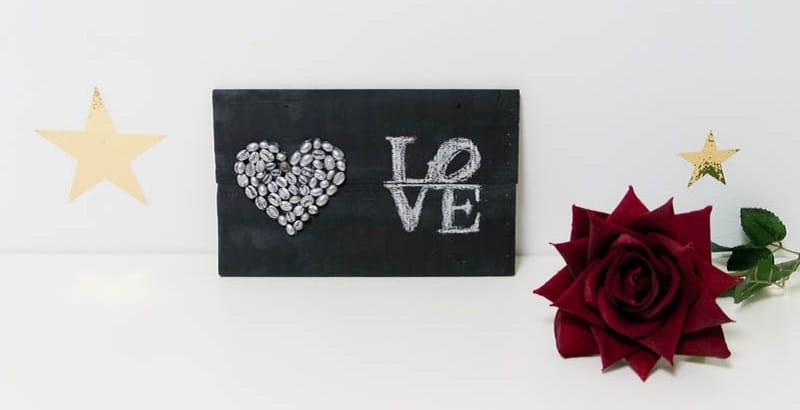 corazon de cafe para san valentin