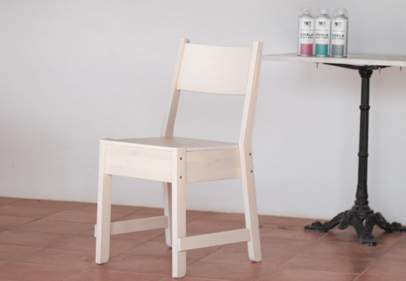 Pintar una silla de ikea con chalk paint spray shakingcolors for Chalk paint muebles ikea