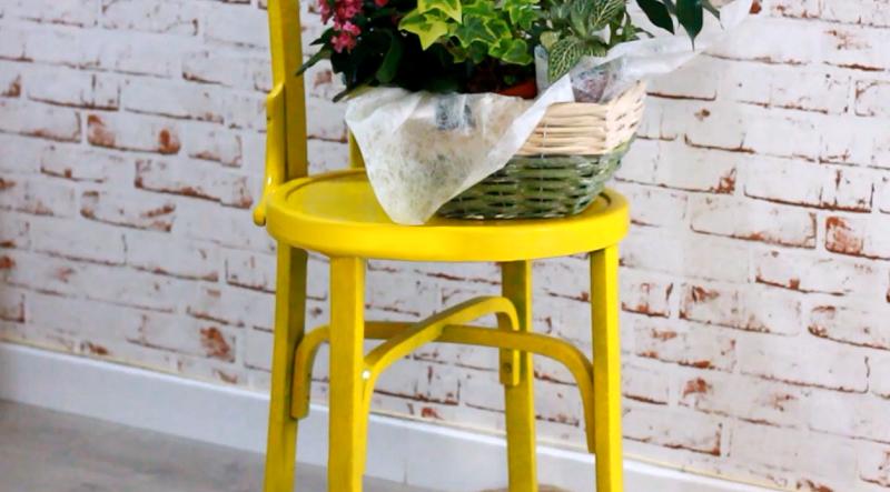 Pintamos una silla con spray decoraci n - Pintar sillas de madera ...