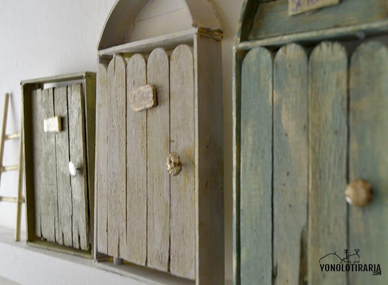 Puertas vintage en miniatura 10