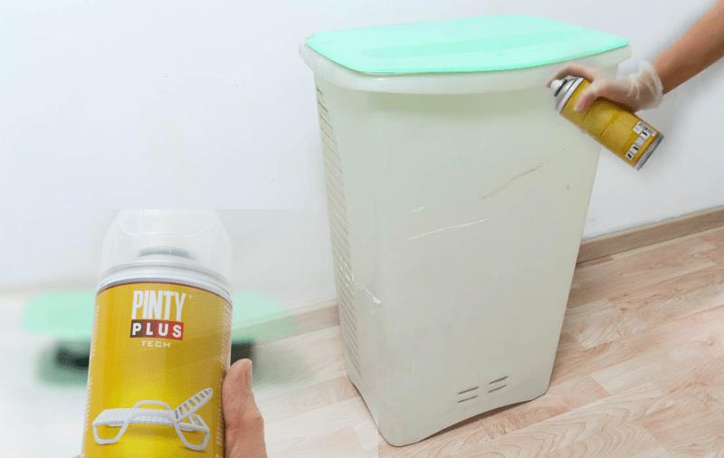 pintar cubo de plastico con chalk