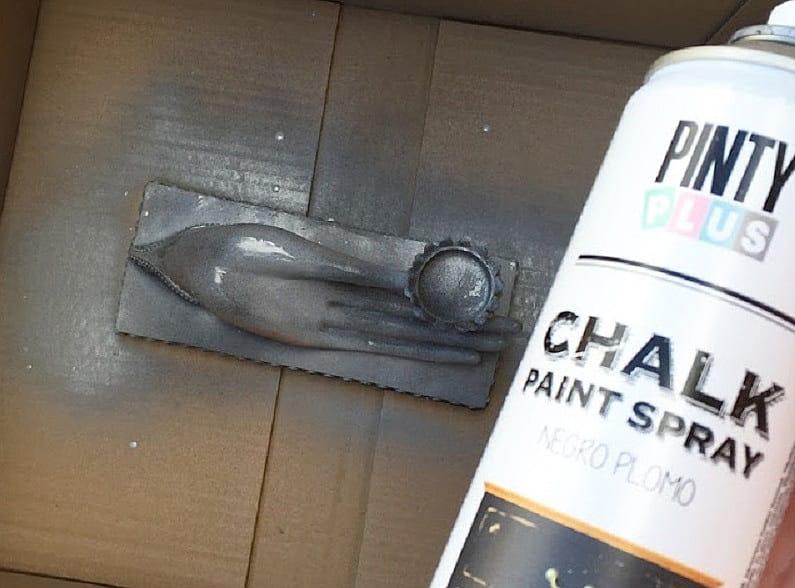 Efecto cemento con pintura en spray 3