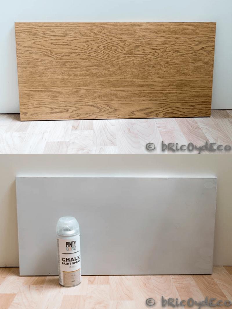 efecto madera con pintura en spray 2