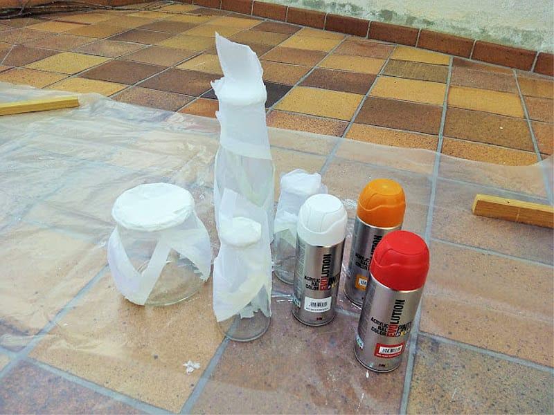 pintar botellas de cristal con pintyplus 1