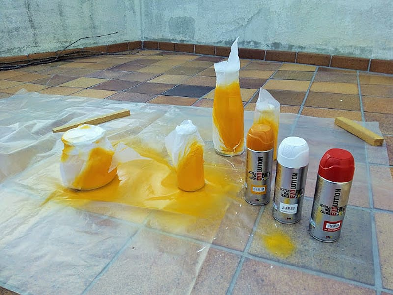 pintar botellas de cristal con pintyplus 2