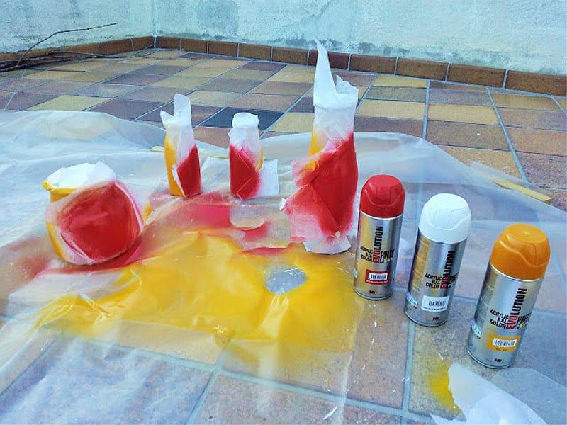pintar botellas de cristal con pintyplus 3