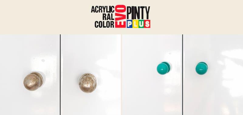 Renovar pomos con pintura en spray Pintyplus