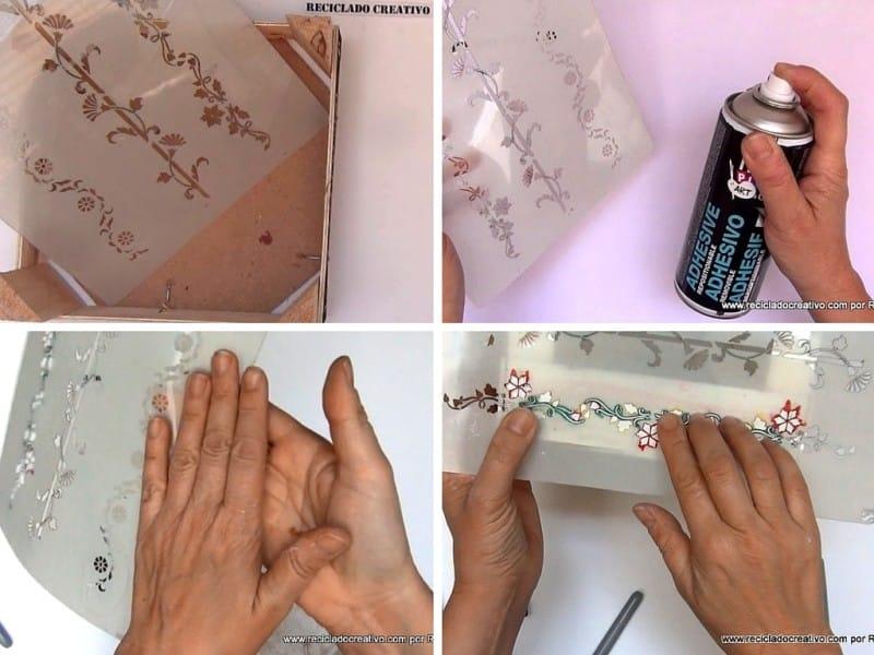 Caja de frutas con pintura en spray 5