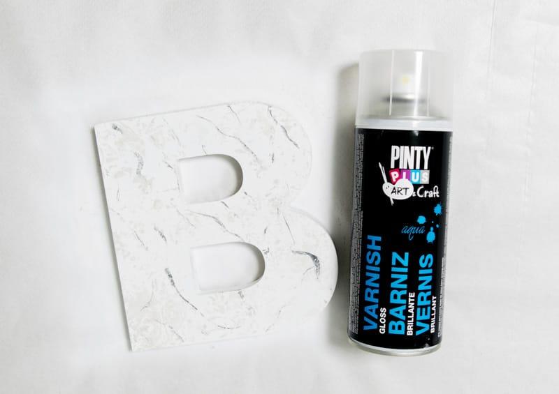 Marmoleado sin agua pintyplus barniz chalk