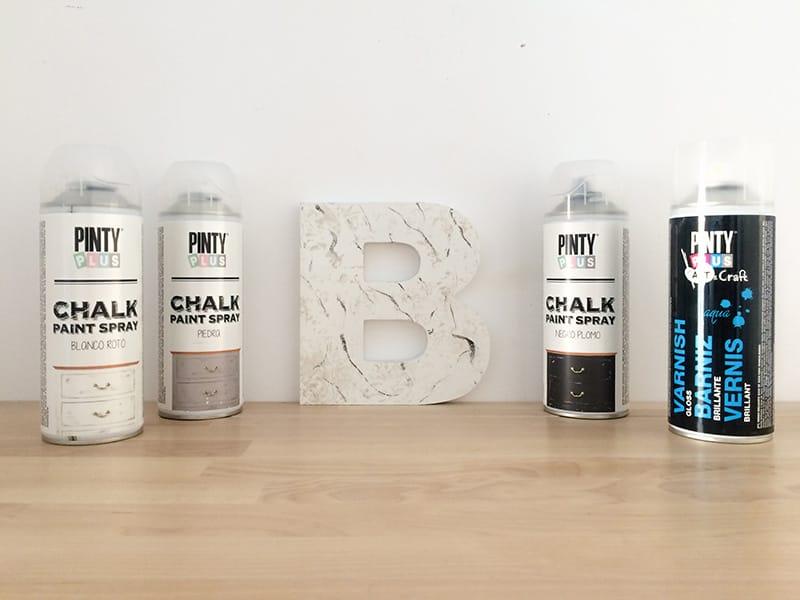 Marmoleado sin agua pintyplus chalk spray paint 1