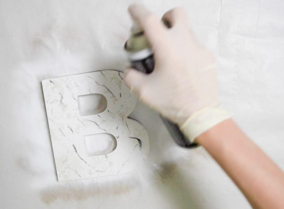 Marmoleado sin agua pintyplus chalk spray paint barniz