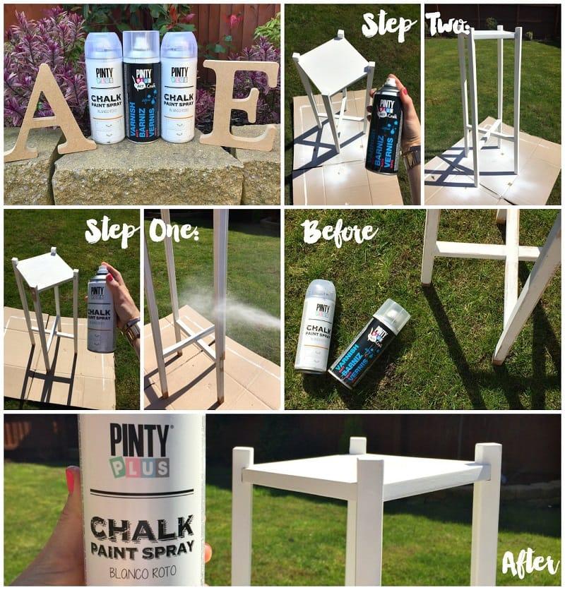 Pintar una mesa auxiliar con chalk spray paint 2