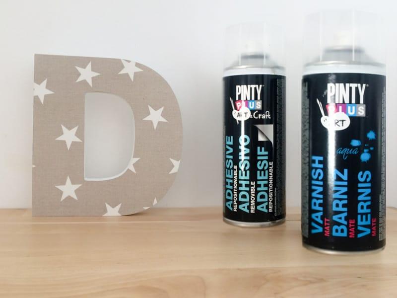 Decoupage con adhesivo y barniz en spray Pintyplus 1