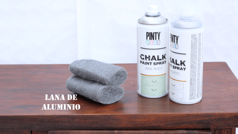 Efecto decapado con chalk paint en spray