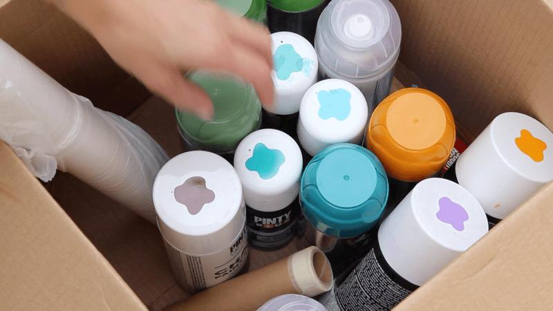 diferentes gamas de pintura en spray Pintyplus