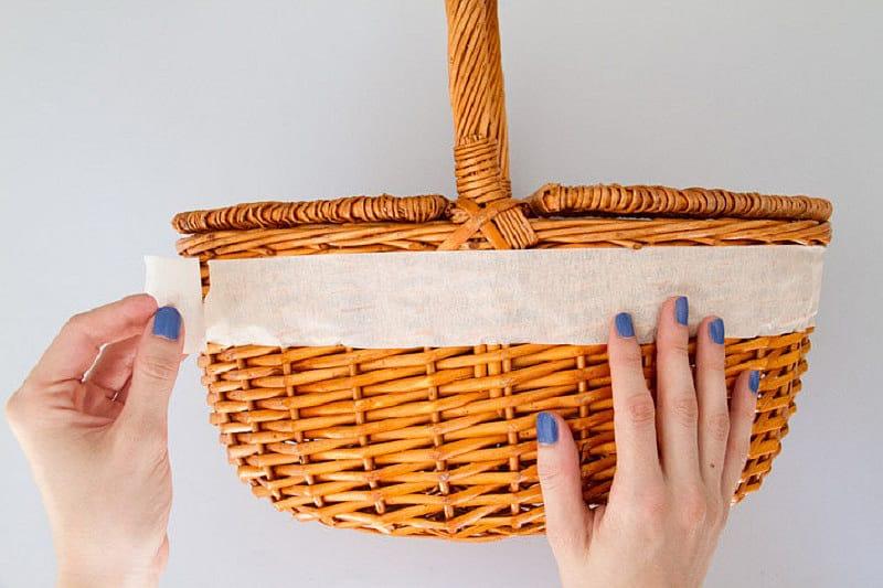 Como pintar degradado en cesta de picnic