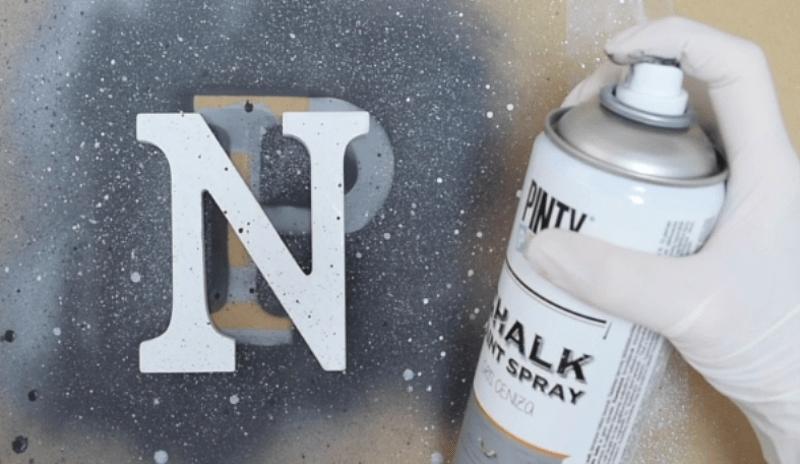 Efecto granito con pintura en spray Pintyplus 3