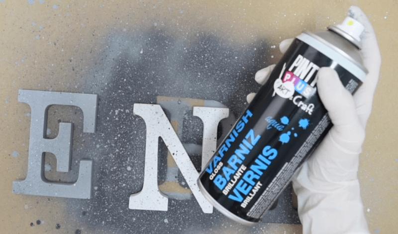 Efecto granito con pintura en spray Pintyplus 4