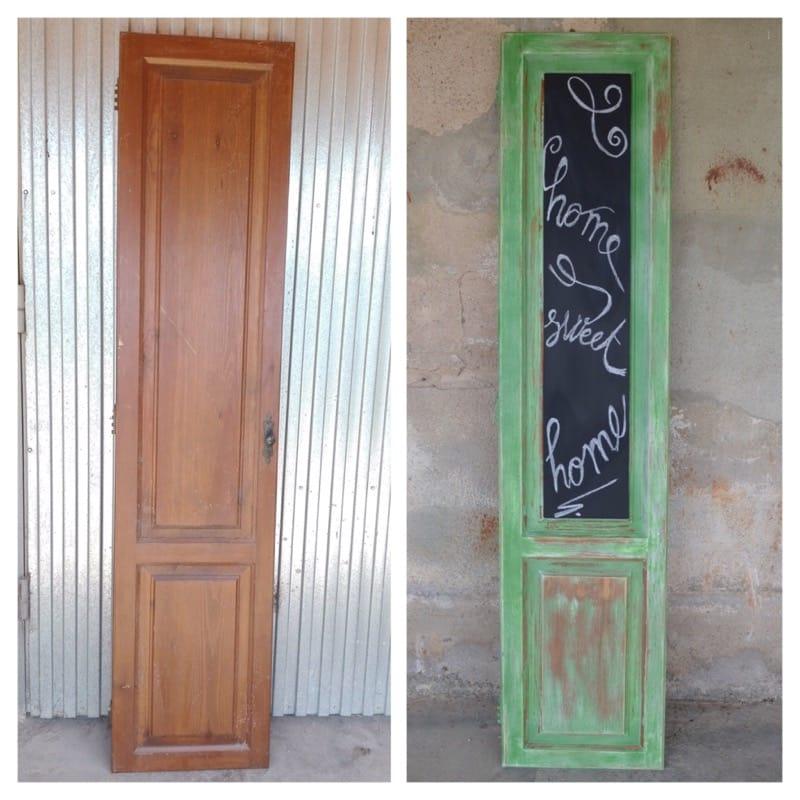 nuevo uso para una puerta en pizarra