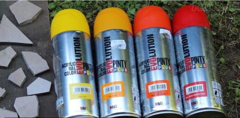 Mosaico con pintura en spray Pintyplus