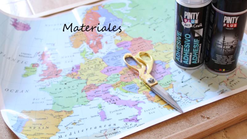 Diy mapamundi sobre corcho con pintura en spray shakingcolors - Mapa de corcho ...