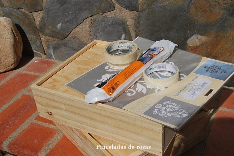 simple excellent materiales para decorar cajas de vino recicladas with cajas de vino de madera decoradas with cajas de vino para decorar with decorar cajas - Cajas De Vino Decoradas