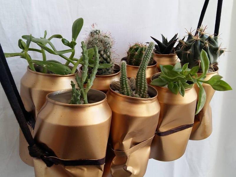 convertir latas en jardineras con pintura en spray Pintyplus