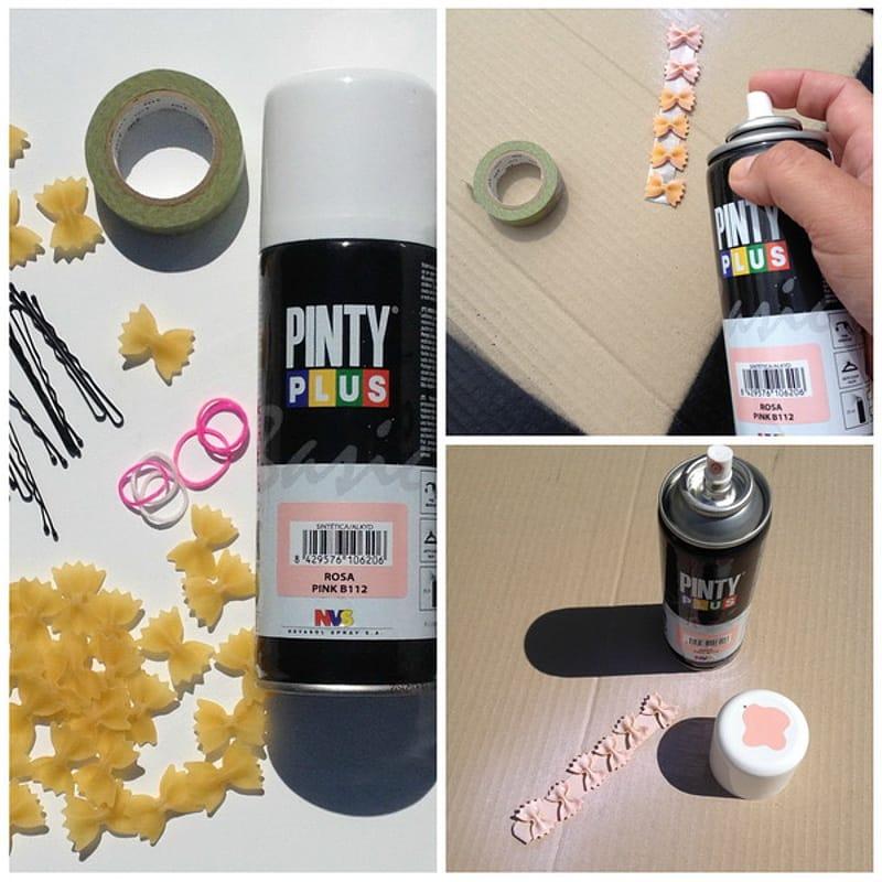 decorar con pasta y pintura en spray