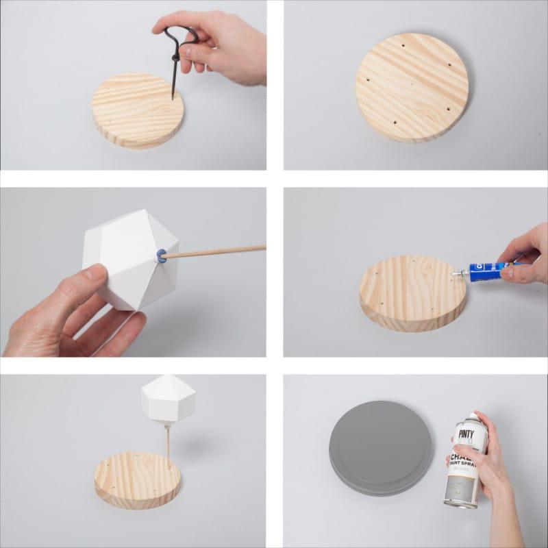decorar con pintura en spray una campana de cristal