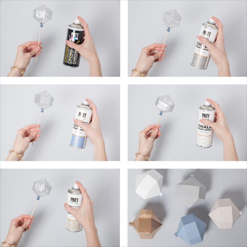 DIY encerrando colores en una campana de cristal 2