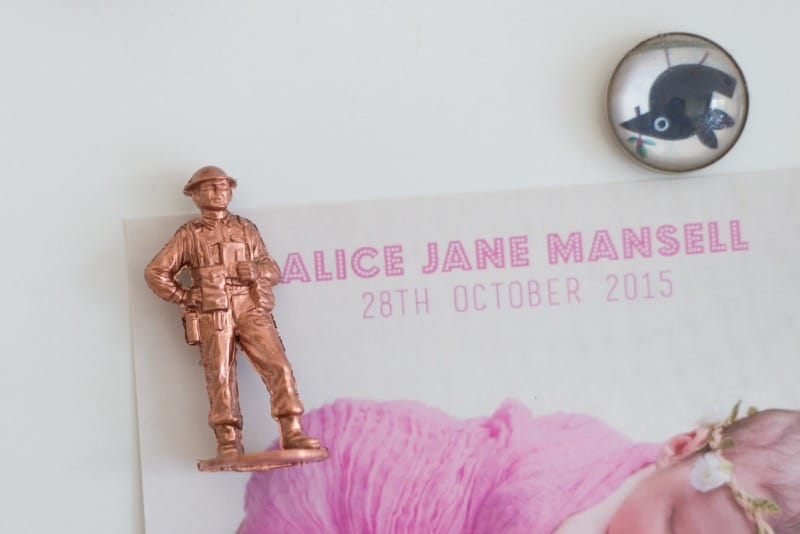 DIY soldiers copper Magnets 2