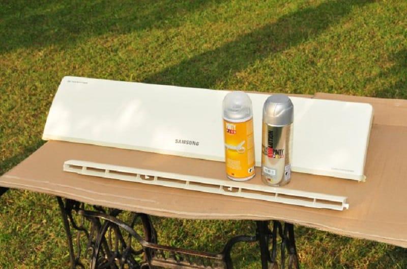 materiales para pintar un aparato de aire acondicionado con pintura en spray