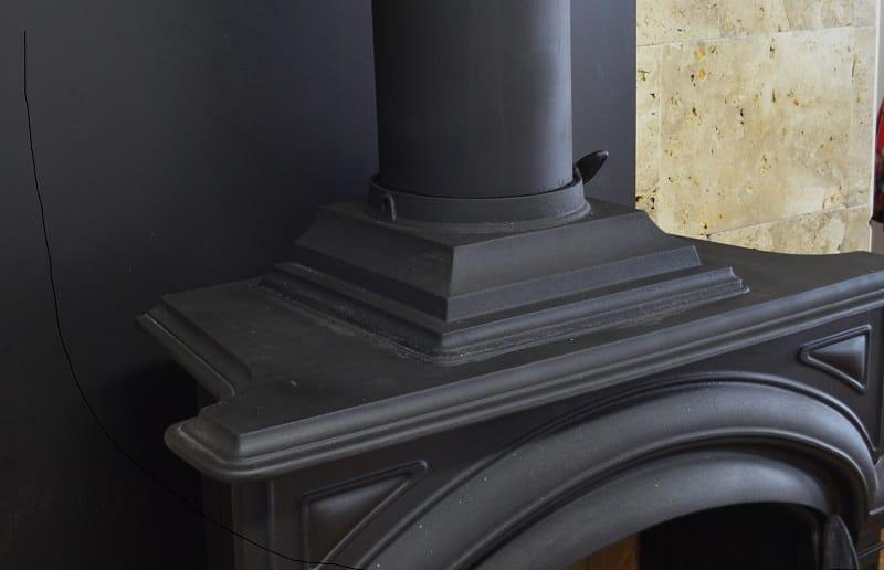 Restore fireplace with spray paint Pintyplus anticalórica
